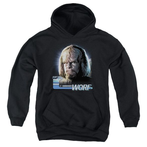 Star Trek Tng Worf Youth Pull Over Hoodie