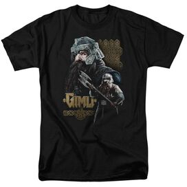 Lor Gimli Short Sleeve Adult Black T-Shirt