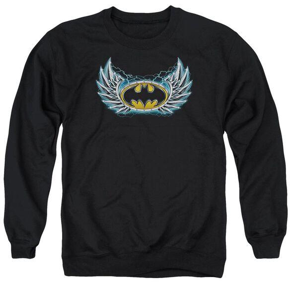 Batman Steel Wings Logo Adult Crewneck Sweatshirt
