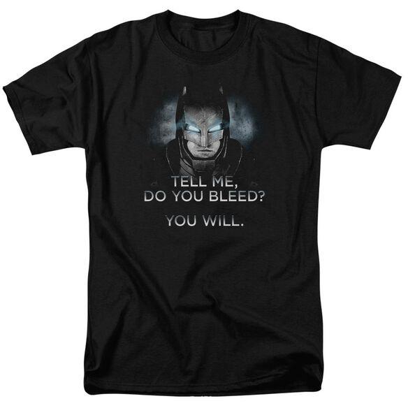 Batman V Superman Do You Bleed Short Sleeve Adult Black T-Shirt