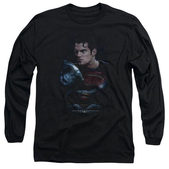 Batman V Superman Super Angry Long Sleeve Adult T-Shirt