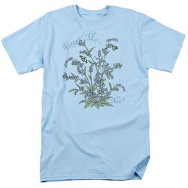 Garden Forget Me Not Short Sleeve Adult Light T-Shirt