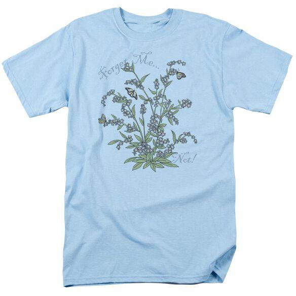 Garden Forget Me Not Short Sleeve Adult Light T-Shirt