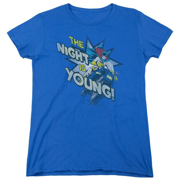 Dc The Night Is Young Short Sleeve Women's Tee Royal T-Shirt