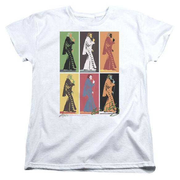 Elvis Presley Retro Boxes Short Sleeve Womens Tee T-Shirt