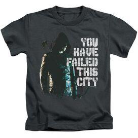Arrow You Have Failed Short Sleeve Juvenile Charcoal T-Shirt
