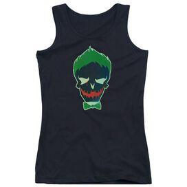 Suicide Squad Joker Skull Juniors Tank Top