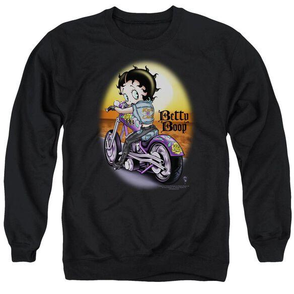 Betty Boop Wild Biker Adult Crewneck Sweatshirt