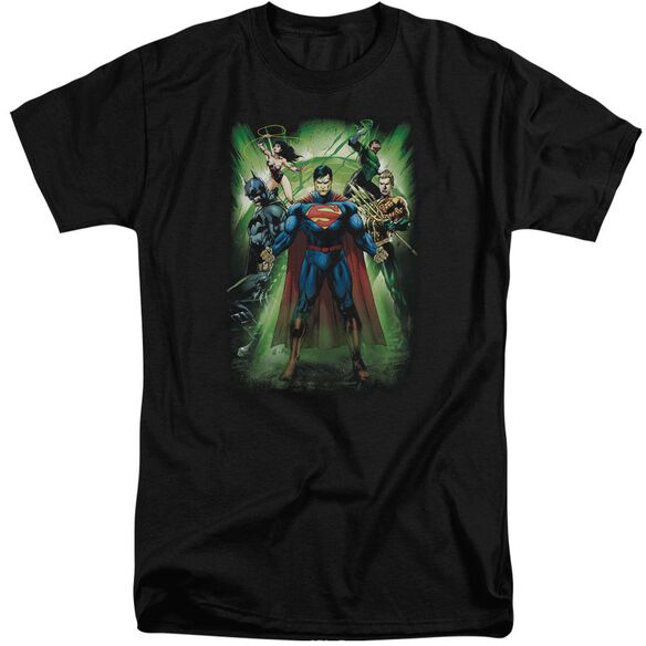 Jla Power Burst Short Sleeve Adult Tall T-Shirt