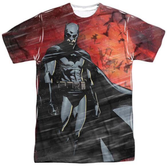 Batman Begins Frenzy Short Sleeve Adult Poly Crew T-Shirt