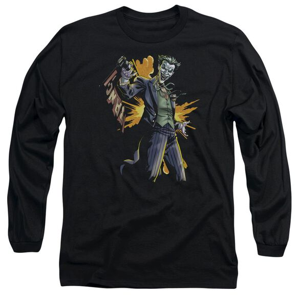 Batman Joker Bang Long Sleeve Adult T-Shirt