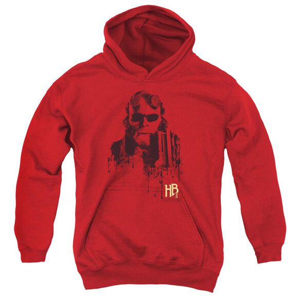 Hellboy Ii Splatter Gun Youth Pull Over Hoodie