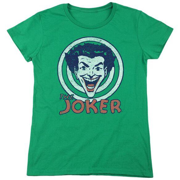 Dc Joke Target Short Sleeve Womens Tee Kelly T-Shirt