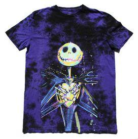 Nightmare Before Christmas Jack Skellington Purple Tie Dye T-Shirt