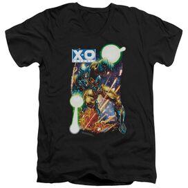 Xo Manowar Vintage Xo Short Sleeve Adult V Neck T-Shirt