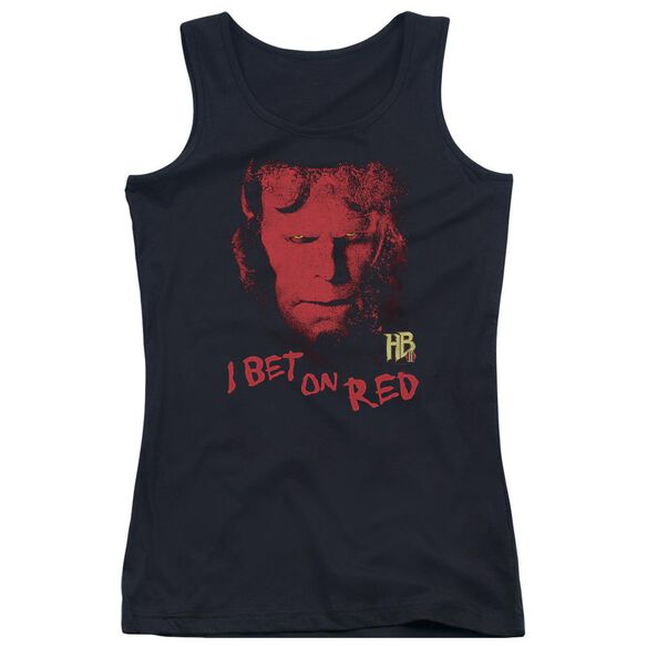 Hellboy Ii I Bet On Red Juniors Tank Top