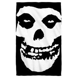 Misfits Fiend Skull Towel White