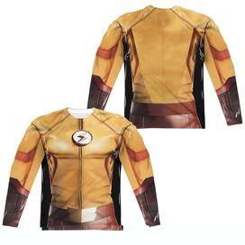 Flash Kid Flash Uniform (Front Back Print) Long Sleeve Adult Poly Crew T-Shirt