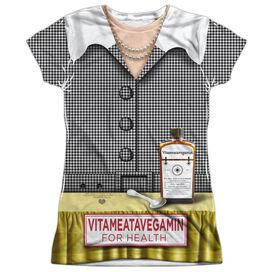 I Love Lucy Vita Costume Alternate Short Sleeve Junior Poly Crew T-Shirt
