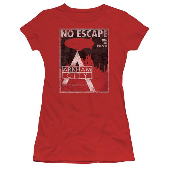 Arkham City No Escape Short Sleeve Junior Sheer T-Shirt