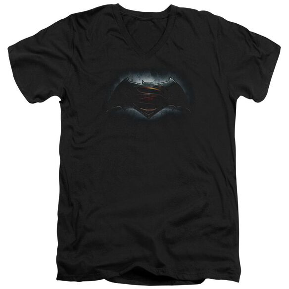 Batman V Superman Logo Short Sleeve Adult V Neck T-Shirt