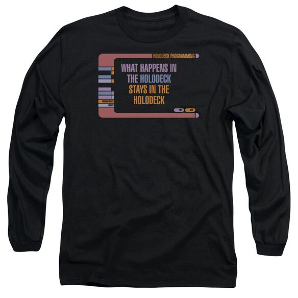 Star Trek Holodeck Secrets Long Sleeve Adult T-Shirt