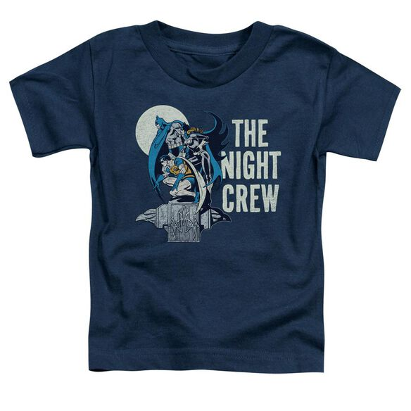 Dc Night Crew Short Sleeve Toddler Tee Navy Sm T-Shirt