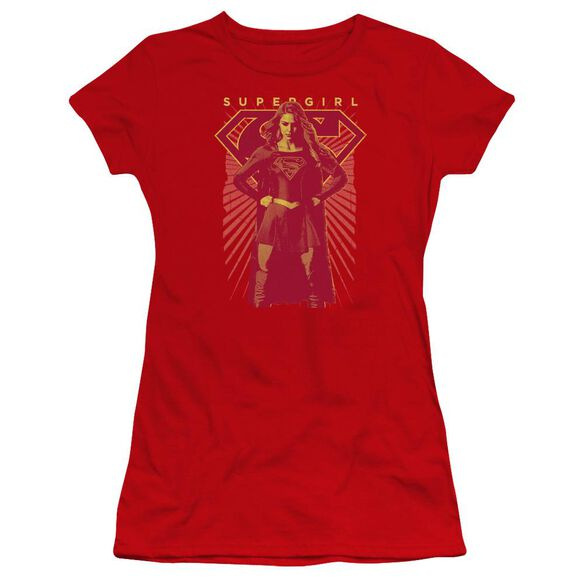 Supergirl Ready Set Premium Bella Junior Sheer Jersey