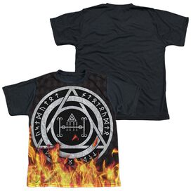 Constantine Flames Short Sleeve Youth Front Black Back T-Shirt
