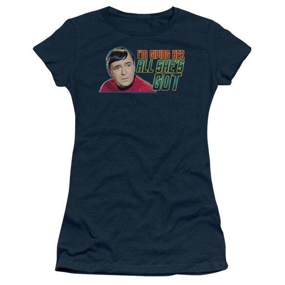 Star Trek All She's Got Short Sleeve Junior Sheer T-Shirt