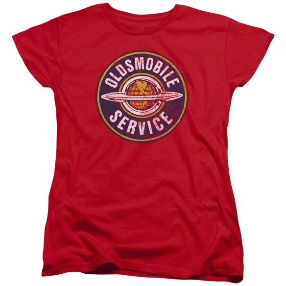 Oldsmobile Vintage Service Short Sleeve Womens Tee T-Shirt