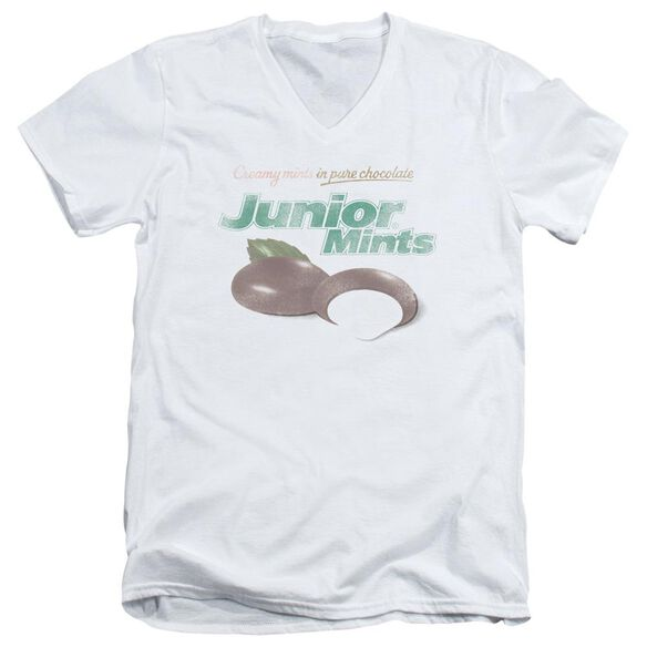 Tootsie Roll Junior Mints Logo Short Sleeve Adult V Neck T-Shirt