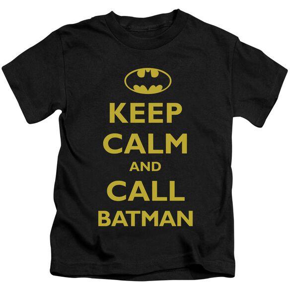 Batman Call Batman Short Sleeve Juvenile Black Md T-Shirt