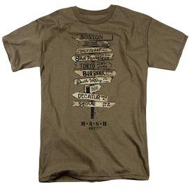 Mash Signs Short Sleeve Adult Safari Green T-Shirt