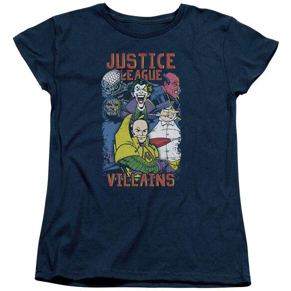 Jla Villians Short Sleeve Womens Tee T-Shirt