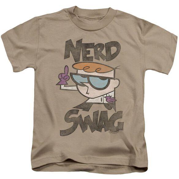 Dexter's Laboratory Nerd Swag Short Sleeve Juvenile Sand T-Shirt