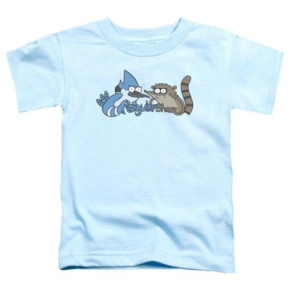 The Regular Show Tattoo Art Short Sleeve Toddler Tee Light Blue T-Shirt
