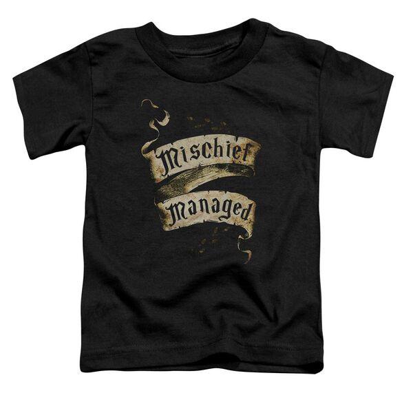 Harry Potter Mischief Managed Short Sleeve Toddler Tee Black T-Shirt
