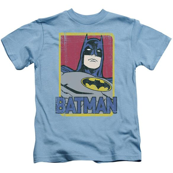 Batman Primary Short Sleeve Juvenile Carolina Blue T-Shirt