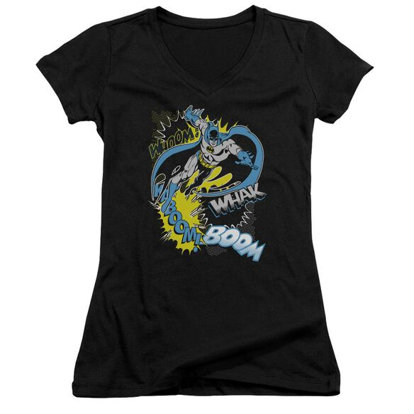 Batman Bat Effects - Junior V-neck - Black