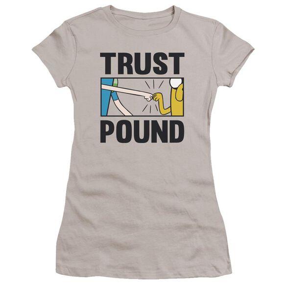 Adventure Time Trust Pound Hbo Short Sleeve Junior Sheer T-Shirt