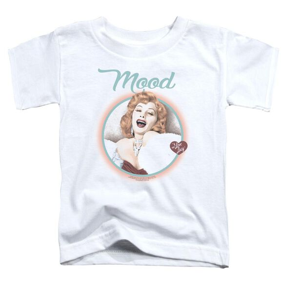 I Love Lucy Mood Short Sleeve Toddler Tee White T-Shirt