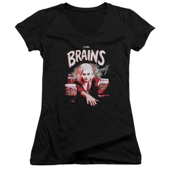 Izombie Brains And Beauty Junior V Neck T-Shirt