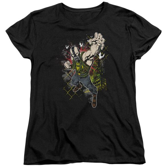 Dark Knight Rises Bane Will Crush Short Sleeve Womens Tee Black T-Shirt