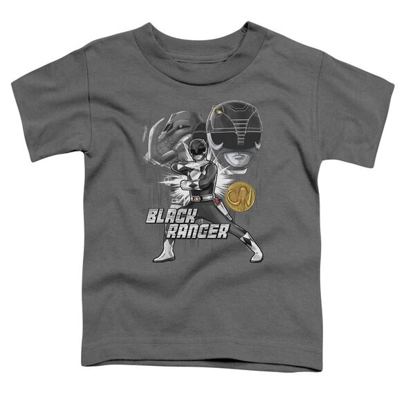 Power Rangers Black Ranger Short Sleeve Toddler Tee Charcoal T-Shirt