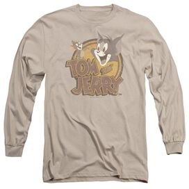 Tom And Jerry Water Damaged Long Sleeve Adult T-Shirt