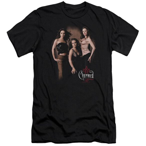 Charmed Three Hot Witches Short Sleeve Adult T-Shirt