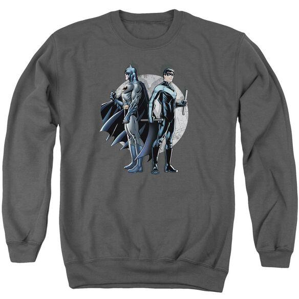 Batman Spotlight - Adult Crewneck Sweatshirt - Charcoal