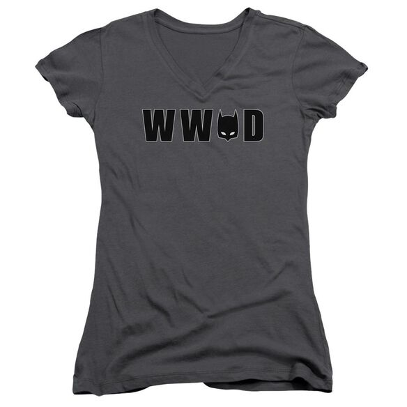 Batman Wwbd Mask Junior V Neck T-Shirt