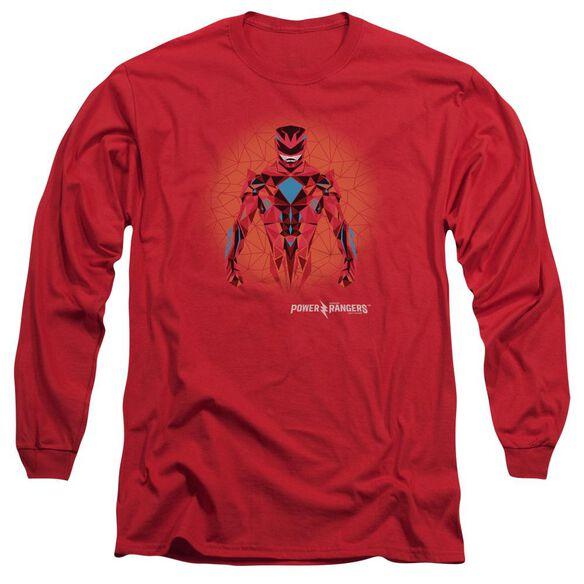 Power Rangers Power Ranger Graphic Long Sleeve Adult T-Shirt
